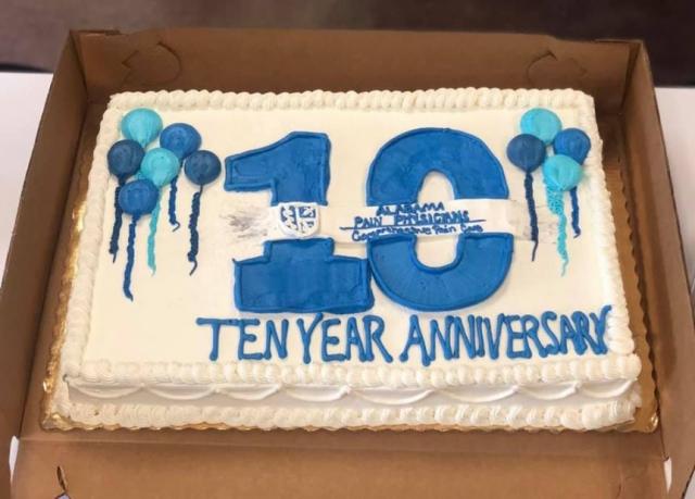 10 Year Anniversary Logo Cake 1