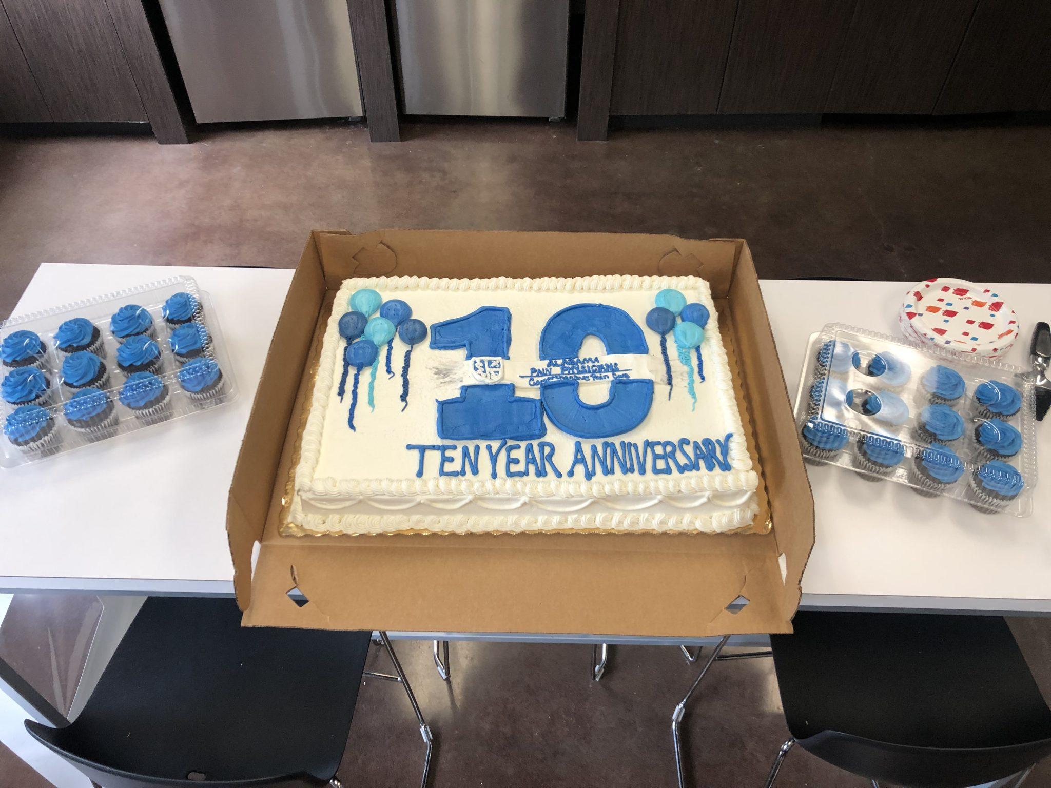 10 Year Anniversary Logo Cake 2